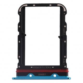 Für Xiaomi Mi Note 10 / 10 Pro Card Tray Sim Karten Halter Blau Ersatzteil Neu