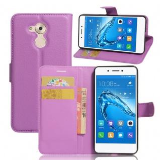 Tasche Wallet Premium Lila für Huawei Honor 6C Hülle Case Cover Etui Schutz Neu