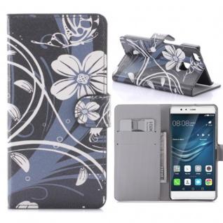 Schutzhülle Muster 60 für Huawei P9 Lite Bookcover Tasche Case Hülle Wallet Etui