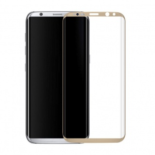 0, 3 mm H9 gebogenes Panzerglas Gold Folie für Samsung Galaxy S8 G950 G950F Neu