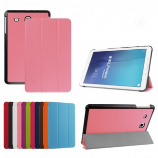 Smartcover Rosa Cover Tasche für Samsung Galaxy Tab E 9.6 T560 Hülle Case Schutz