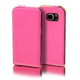 Flip Tasche Deluxe Pink für Samsung Galaxy S5 Neo SM G903F Hülle Case Etui Neu