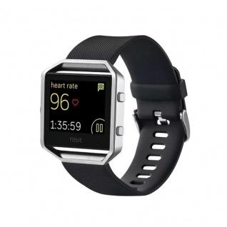 Kunststoff / Silikon Uhr Armband für Fitbit Blaze Watch Schwarz Zubehör 17-20 cm