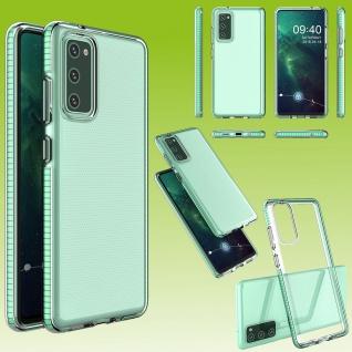 Für Samsung Galaxy S20 FE Color Frame Case Türkis Handy Tasche Hülle Etuis Cover
