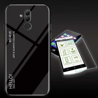 Für Huawei Mate 20 Lite Color Effekt Schwarz Tasche Hülle + H9 Hart Glas Cover