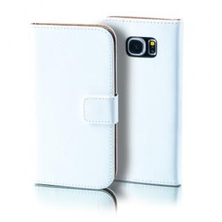 Schutzhülle Weiß für Wiko Lenny 2 Bookcover Tasche Hülle Wallet Case Flip Schutz