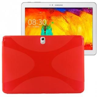Schutzhülle Rot Tasche Case für Samsung Galaxy Note 10.1 P600 P605 LTE + Folie