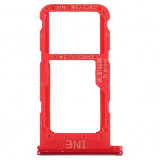 Für Huawei P Smart Plus Karten Halter Sim Tray Schlitten Holder Rot Ersatzteil