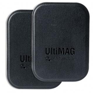 4smarts Universal Metallplättchen UltiMAG 2x Kunstleder für Halterung usw. schwarz
