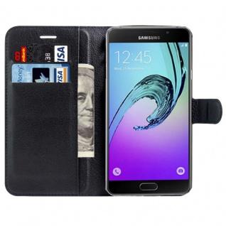 Schutzhülle Schwarz für Samsung Galaxy A3 A320F 2017 Bookcover Tasche Hülle Case - Vorschau 3