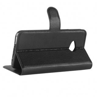 Tasche Wallet Premium Schwarz für HTC U11 Plus Hülle Case Cover Etui Schutz Neu - Vorschau 4