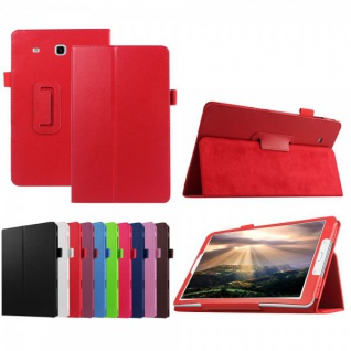 Schutzhülle Rot Tasche für Samsung Galaxy Tab E 9.6 SM T560 T561 Hülle Case Neu