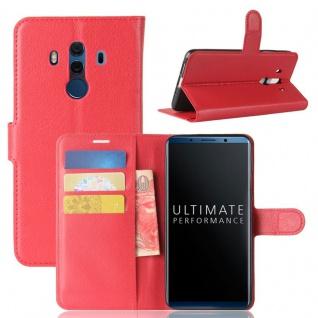 Tasche Wallet Premium Rot für Huawei Mate 10 Pro Hülle Case Cover Etui Schutz
