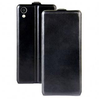 Flip Tasche Schwarz für Sony Xperia XA1 Hülle Schutz Case Etui Backcover Zubehör