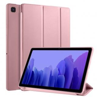 Flip Case Rose Gold für Samsung Galaxy Tab A7 10.4 2020 Tasche Hülle Case