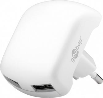 Dual USB Ladegerät Reiseladegerät 2x USB 2, 1A für Smartphones & Tablets Weiss