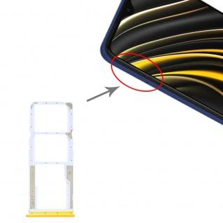 Dual Sim Card Micro SD Tray für Xiaomi Poco M3 Gelb Karten Halter Ersatzteil