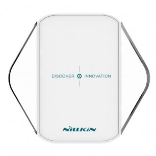 Universal Induktive Wireless Ladestation kabelloses Laden Qi NFC Dock Weiß