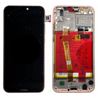 Huawei Display LCD Rahmen für P20 Lite Service Pack 02351VUW Pink Batterie Neu