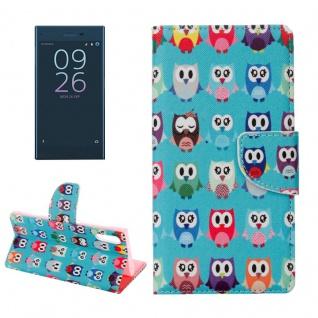 Tasche Wallet Premium Muster 17 für Sony Xperia XZ F8331 Bookcover Hülle Case
