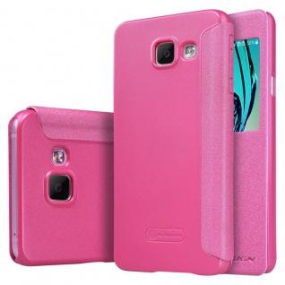 Nillkin Window Smartcover Pink für Samsung Galaxy A3 2016 A310F Tasche Cover Neu