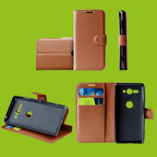Für Samsung Galaxy A50 6.4 Zoll Tasche Wallet Premium Braun Hülle Etuis Cover