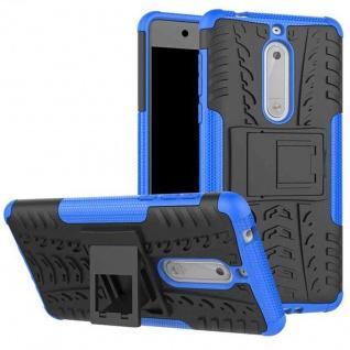 Hybrid Case 2teilig Outdoor Blau Tasche Hülle für Nokia 5 Schutz Etui Cover Neu