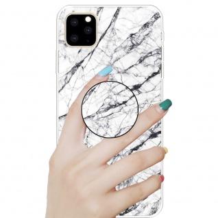 Schutzhülle Cover für Apple iPhone 11 6.1 Zoll Weiß 3D Marble TPU Silikon Tasche