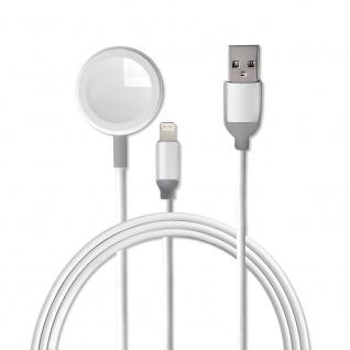 4smarts Kabelloses Ladegerät VoltBeam Mini 2in1 für Apple Watch und iPhone 2m