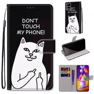 Für Samsung Galaxy M31s M317F Kunst-Leder Handy Tasche Motiv 3 Hülle Etuis Case
