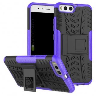 New Hybrid Case 2teilig Outdoor Lila für Xiaomi Mi6 Tasche Hülle Cover Schutz