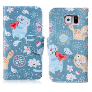 Schutzhülle Muster 63 für Samsung Galaxy S6 G920 G920F Tasche Cover Case Hülle