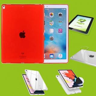 Für Apple iPad Pro 11.0 Zoll 2018 Rot Hülle Tasche Cover + H9 Hart Glas Case Neu