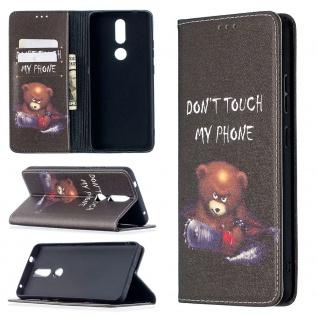 Für Nokia 2.4 Kunst-Leder Handy Tasche Motiv 1 Hülle Case Etuis Case Schutz Neu