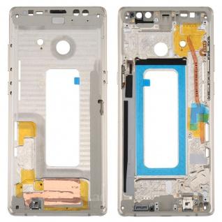Für Samsung Galaxy Note 8 N950F Reparatur Mittelrahmen Kamera Gehäuse Gold Neu