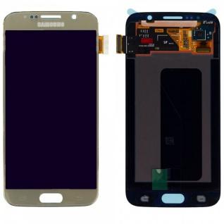 Display LCD Komplettset Touchscreen Gold für Samsung Galaxy S6 G920 G920F Ersatz