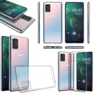 Für Samsung Galaxy A51 Silikoncase TPU Schutz Transparent Tasche Hülle Cover