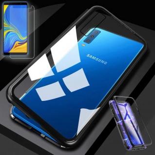 Für Samsung Galaxy A7 A750F Magnet Tasche Schwarz / Transparent + 0, 26 H9 Glas