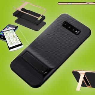 Für Samsung Galaxy S10e G970F Standing Tasche Outdoor Etuis Schwarz + H9 Glas