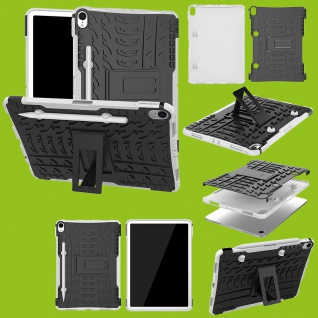 Für Apple iPad Pro 11.0 Zoll 2018 Hybrid Outdoor Case Weiß Tasche Cover Hülle