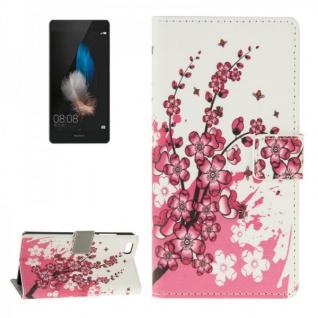 Schutzhülle Muster 6 für Huawei Ascend P8 Lite Bookcover Tasche Hülle Wallet