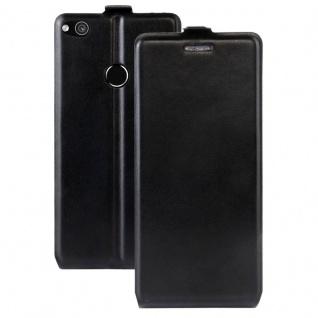 Flip Tasche Schwarz für Huawei New P8 Lite 2017 Hülle Case Etui Neu Schutz Top