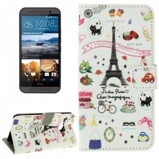 Schutzhülle Muster 74 für HTC One 3 M9 2015 Tasche Cover Case Hülle Etui Schutz - Vorschau 1