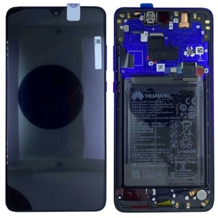 Huawei Display LCD Rahmen für Mate 20 Service 02352FRA Twilight Batterie Ersatz