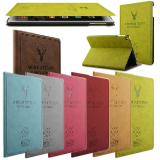 Design Tasche Backcase Smartcover Pink für Apple iPad Air 1 / Air 2 Hülle Case - Vorschau 2