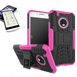 Hybrid Case 2teilig Pink für Lenovo Moto G5 Plus + Hartglas Tasche Hülle Neu - Vorschau 1
