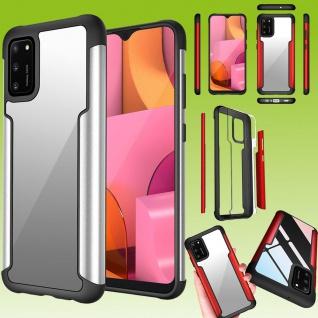 Für Samsung Galaxy A02S A025F Hybrid Iron Man Silber Handy Tasche Etuis Hülle