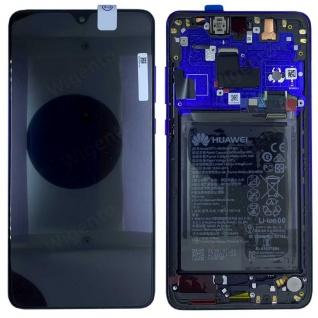 Huawei Display LCD Rahmen für Mate 20 Pro Service 02352GFX Midnight Blue Akku
