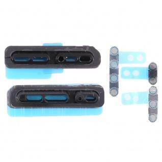 Staubdichter Lautsprecher Schutz für Apple iPhone X Schwarz Ersatzteil Zubehör - Vorschau 1