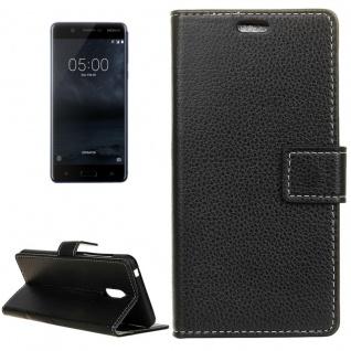 Tasche Wallet Premium Schwarz für Nokia 5 Schutz Hülle Case Cover Etui Zubehör